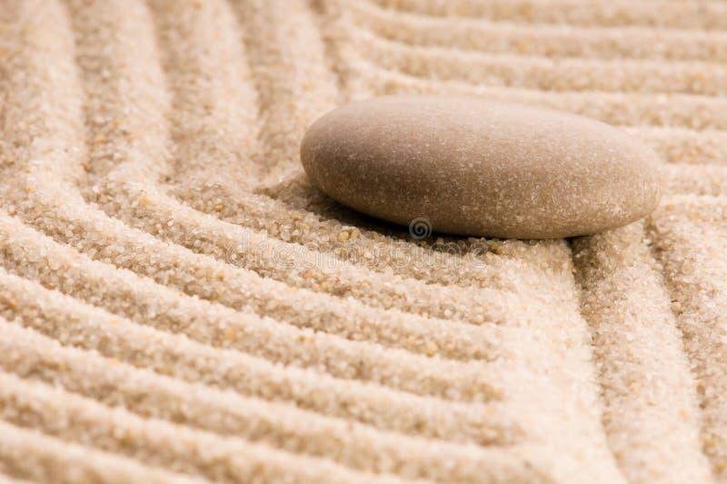 Zen. Pierre et sable image stock