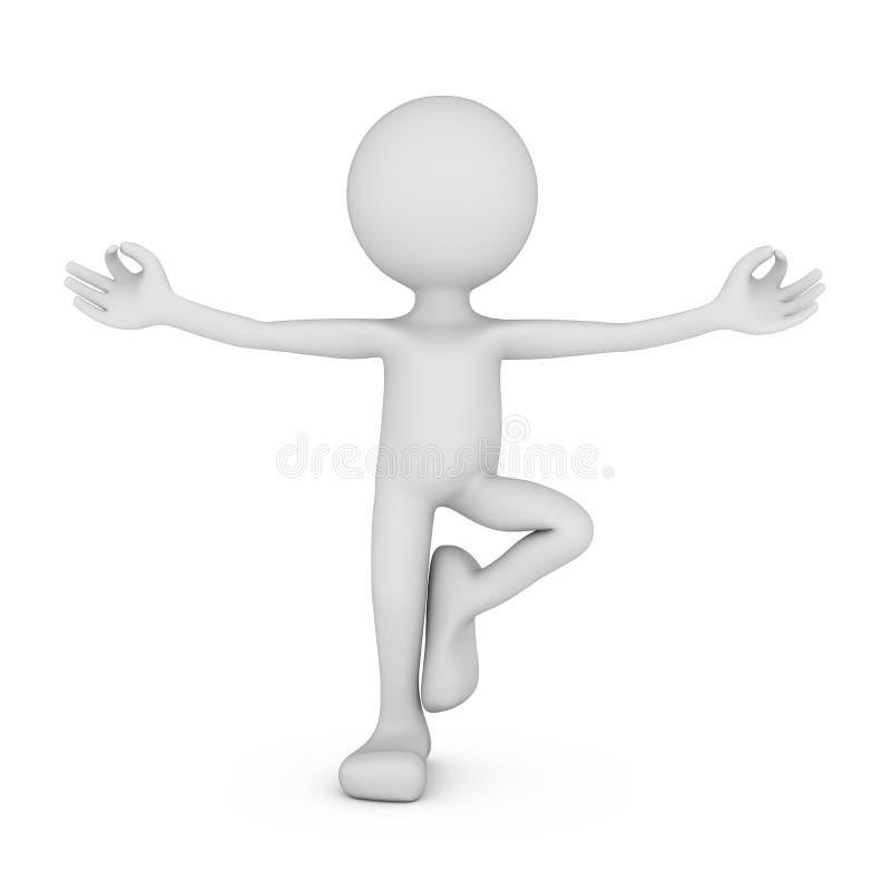 Zen pose stock illustration