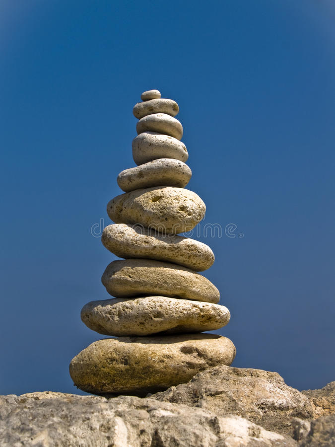 Zen pyramid royalty free stock photos