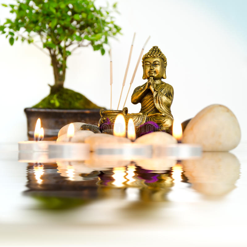 Zen-Reflexionen stockbild