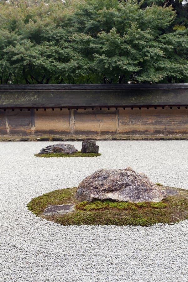 Free Zen Rock Garden In Ryoanji Temple. Stock Photos - 37235873