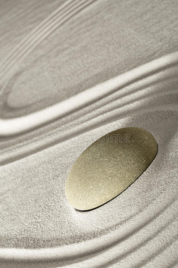 Zen rock garden royalty free stock images