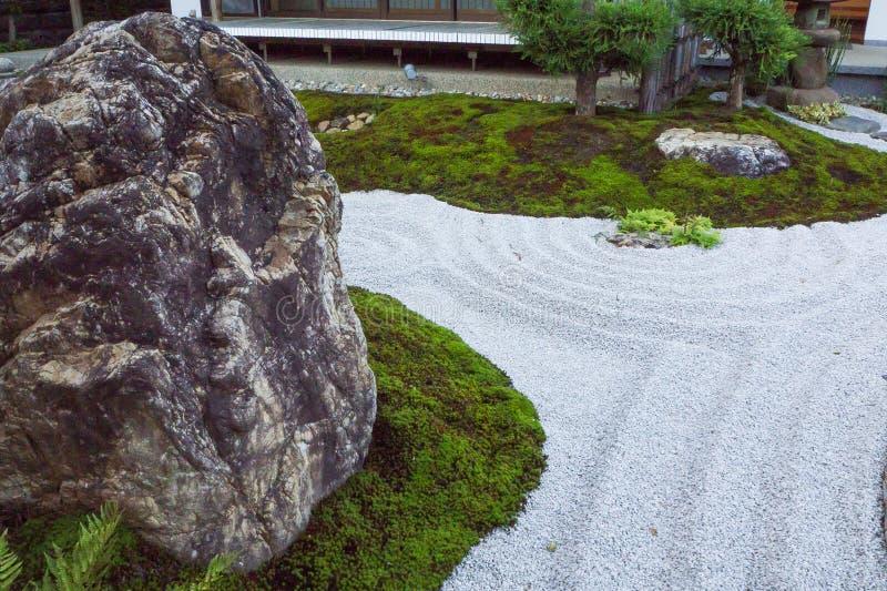 The zen rock garden Japanese style kamakura japan stock photo