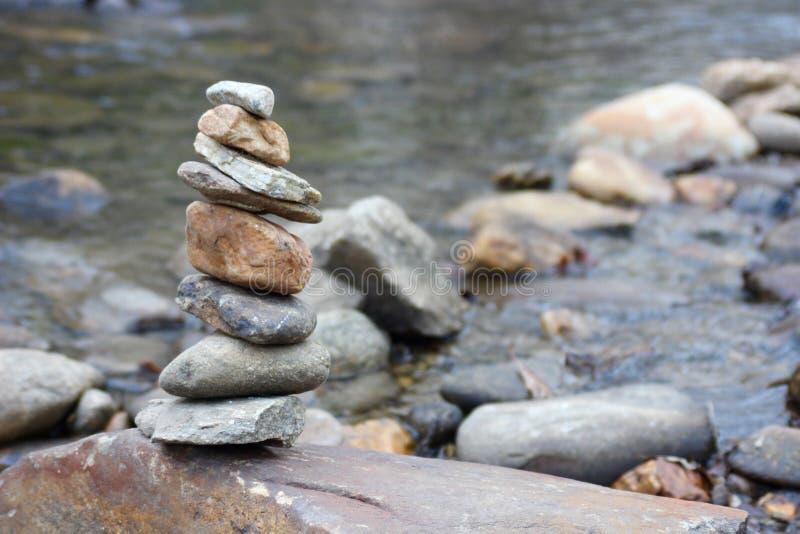 Zen Rock Pile stock foto