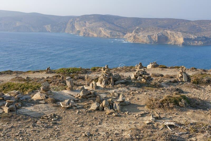 Zen Rock Sculptures, ilha do Rodes imagem de stock