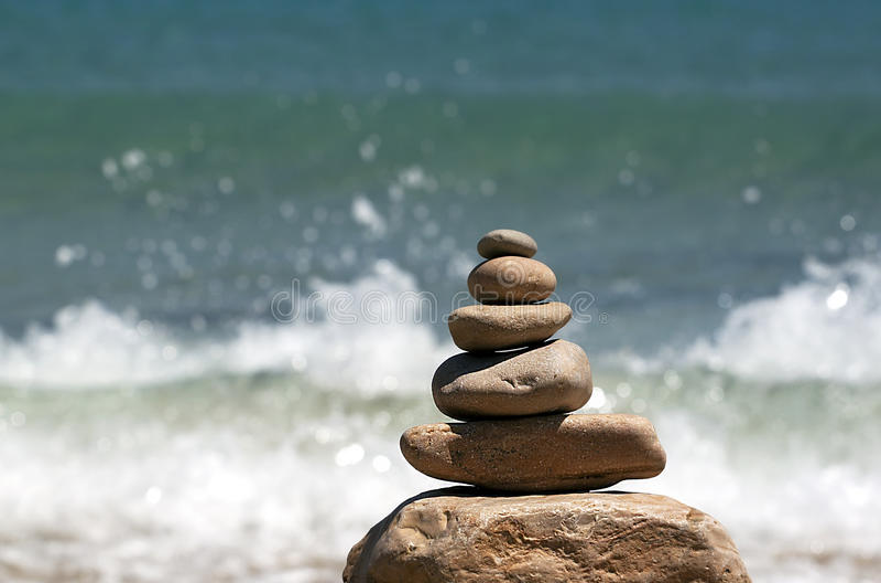 Zen rocks royalty free stock photos
