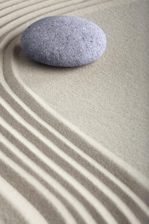 Zen sand stone meditation spa garden royalty free stock images