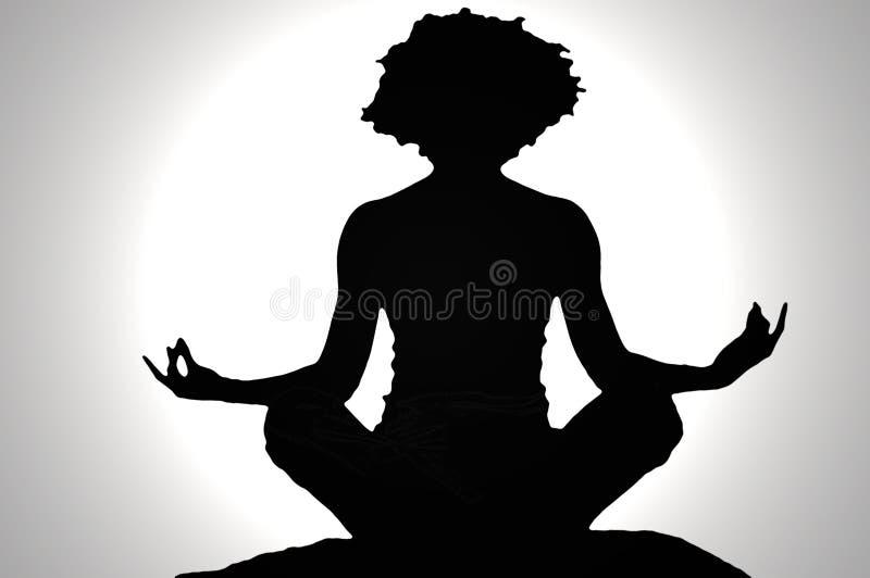 Zen silhouette royalty free stock photo