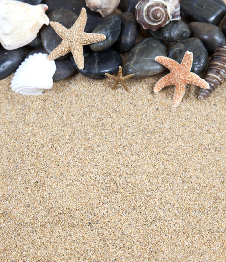 Download Zen Spa River Rocks And Shells On Stock Photo - Image: 18586900