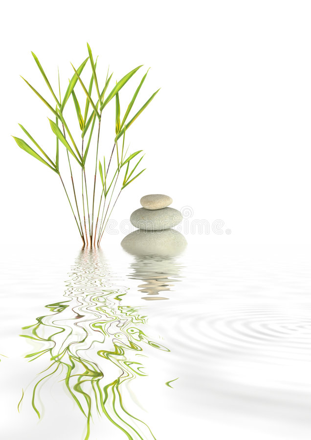 Zen Spa Stones and Bamboo stock photos