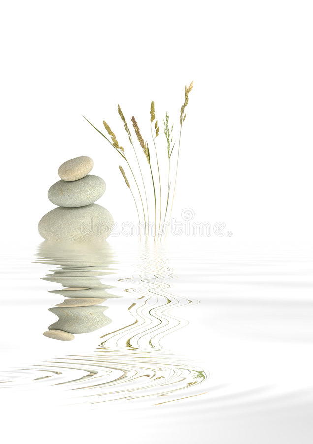 Zen Spa Stones and Natural Grass royalty free stock images