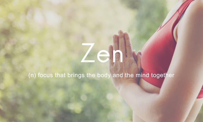 Zen Spirituality Buddhism Body and Mind Meditation Concept royalty free stock photo