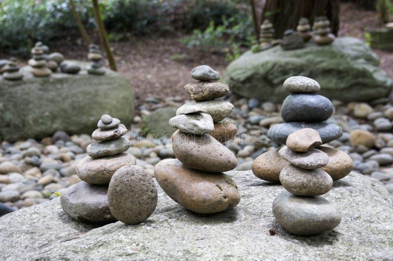 Zen Stacked Rock Garden fotografie stock libere da diritti