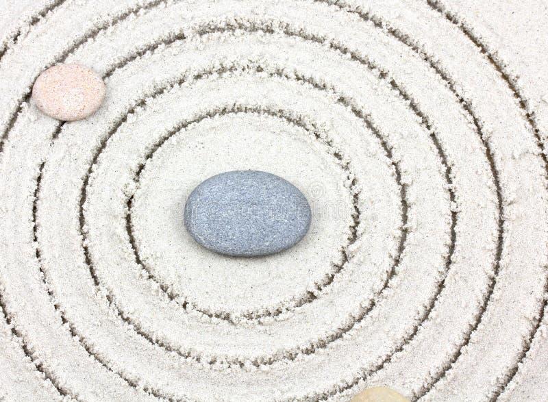 ZEN Stone japonés del jardín del jardín del zen imagen de archivo