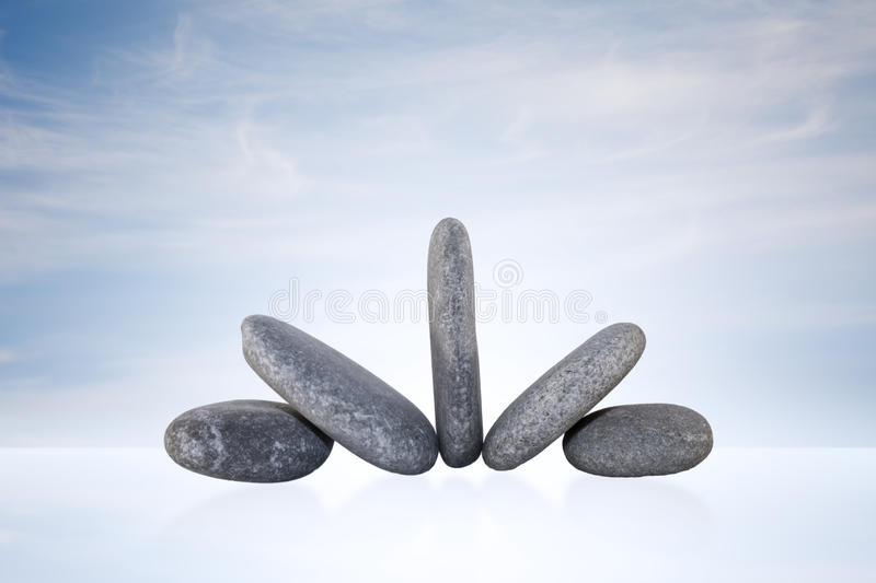 Download Zen Stones stock photo. Image of clouds, sign, tranquility - 21081476