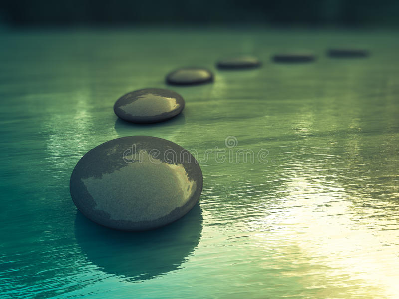Download Zen Stones stock image. Image of simplicity, water, massage - 26052371