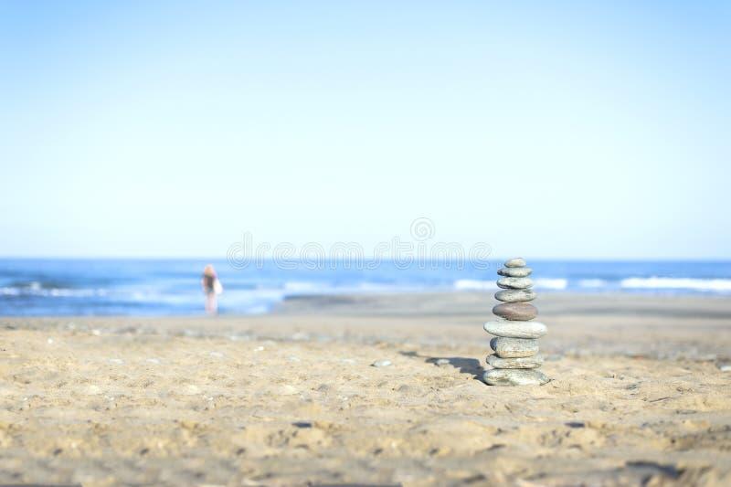 Zen Stones. Zen Style Stones by the Ocean stock images