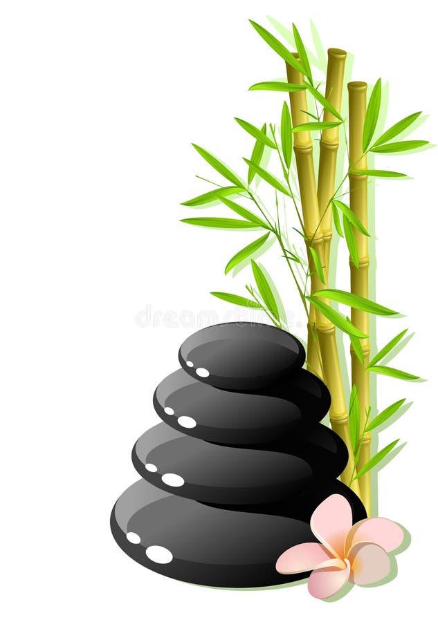 Zen stones vector illustration