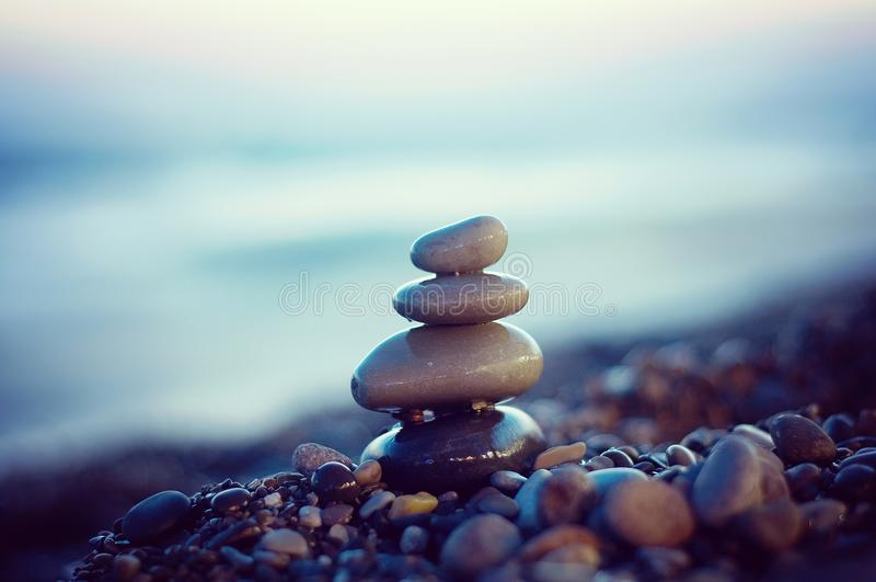 Zen stones balance. royalty free stock photos