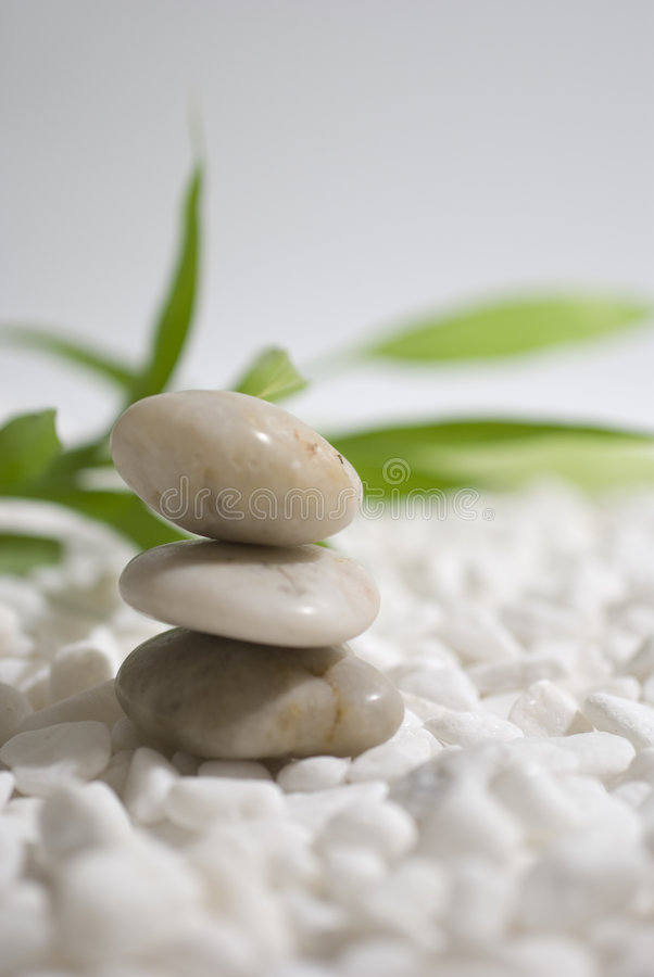 Zen stones and bamboo stock images