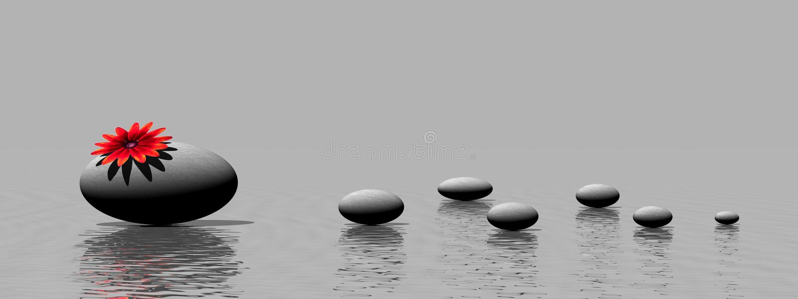 Download Zen Stones And Flower Royalty Free Stock Images - Image: 20003689