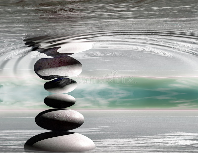 Zen stones graphic. With abstract background royalty free illustration
