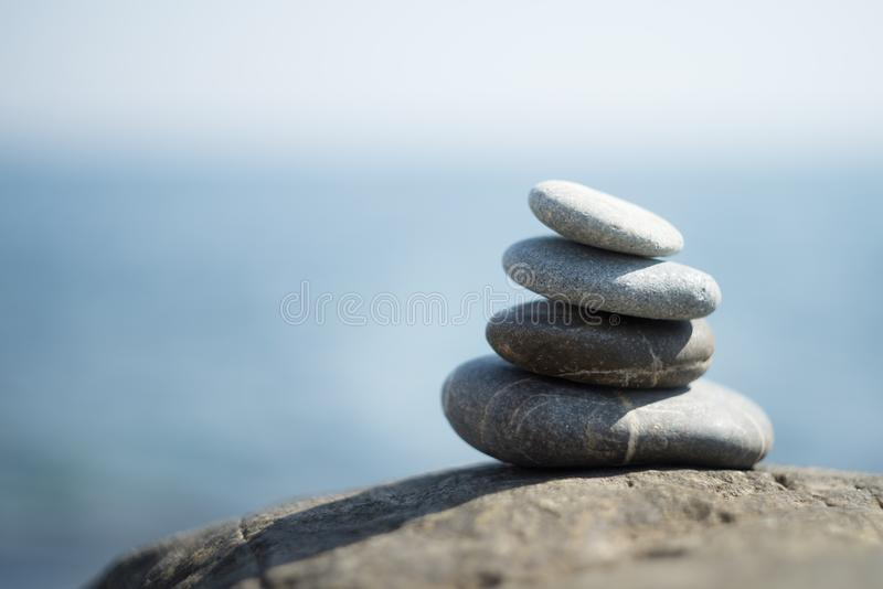 Zen stones, meditation. Symbol of buddhism. Tranquil royalty free stock photos
