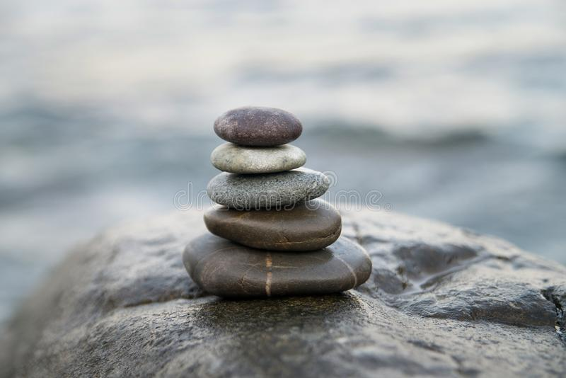Zen stones. Peace buddhism meditation symbol. Relaxation royalty free stock photo