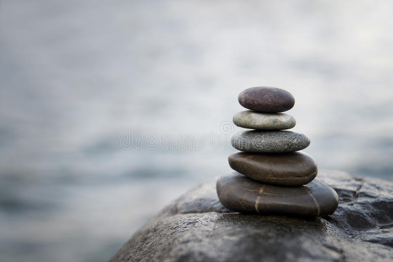 Zen stones. Peace buddhism meditation symbol. Relaxation royalty free stock images