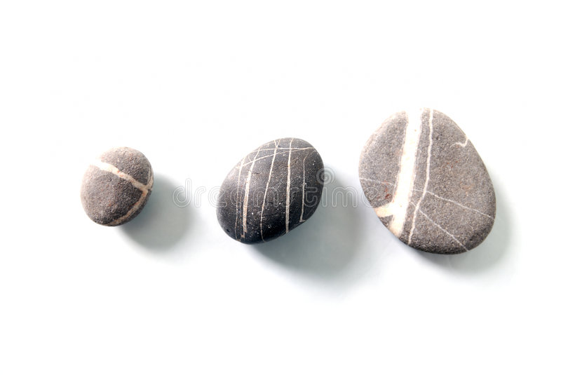 .zen stones with reflection isolated royalty free stock images