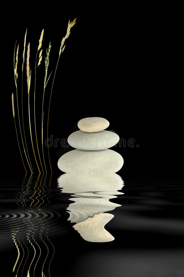 Download Zen Stones and Wild Grass stock photo. Image of meditation - 6745412