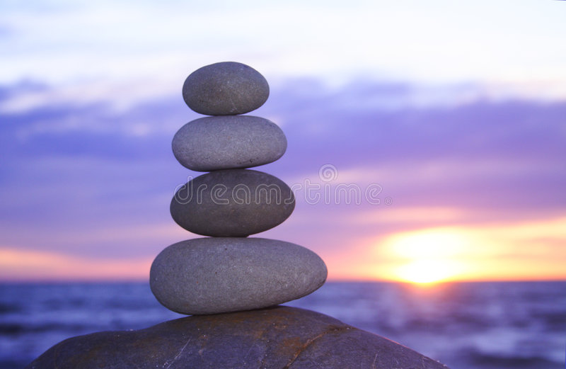 Download Zen sunset stock photo. Image of pyramide, corporate, pebbles - 1012812