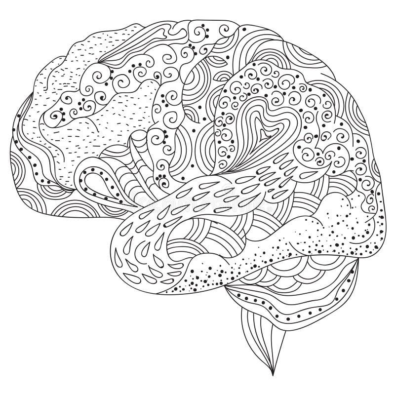 Zen sztuki mózg royalty ilustracja