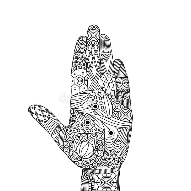 Zen Tangle der Geste von stoppen und nähern sich nicht vektor abbildung