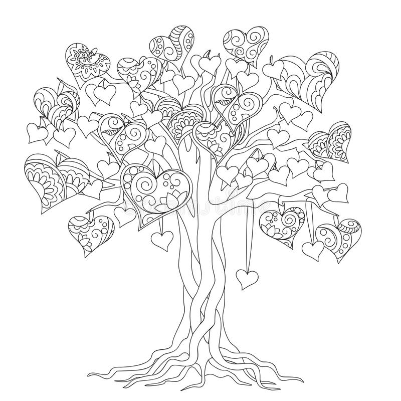 Zen tree of love vector illustration