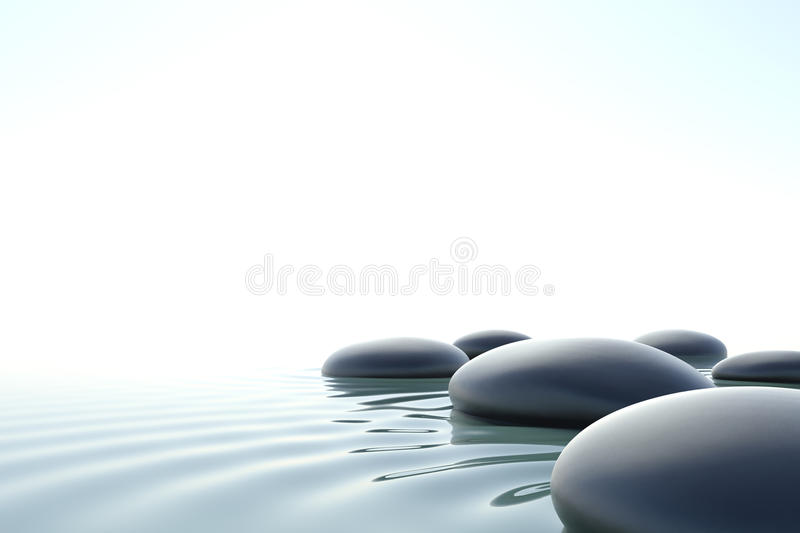 Zen water vector illustration