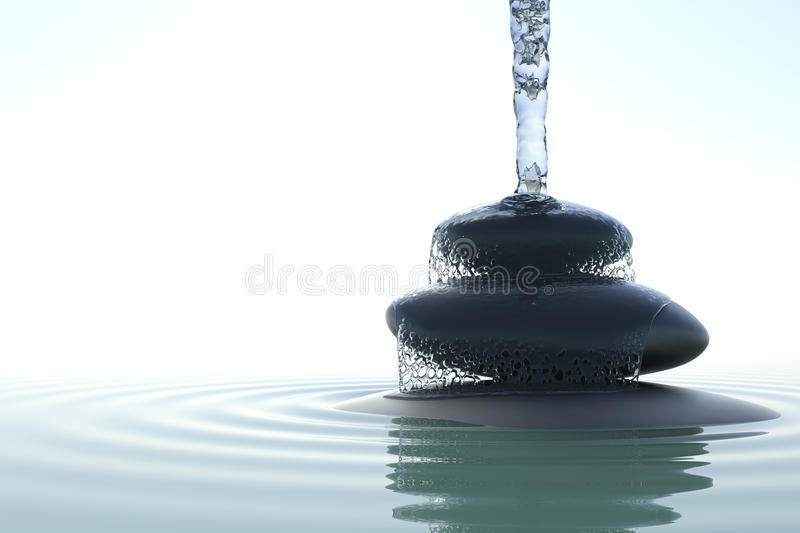 Zen waterfall vector illustration