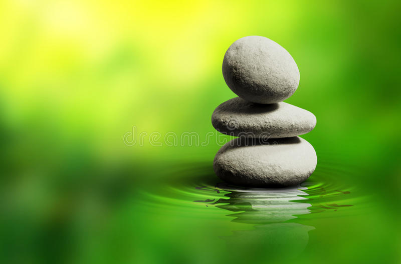 Zen White Spa Stones stock image