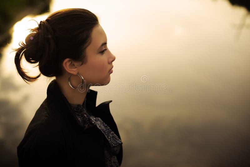 Download Zen woman stock photo. Image of fashionable, coat, beauty - 16845882