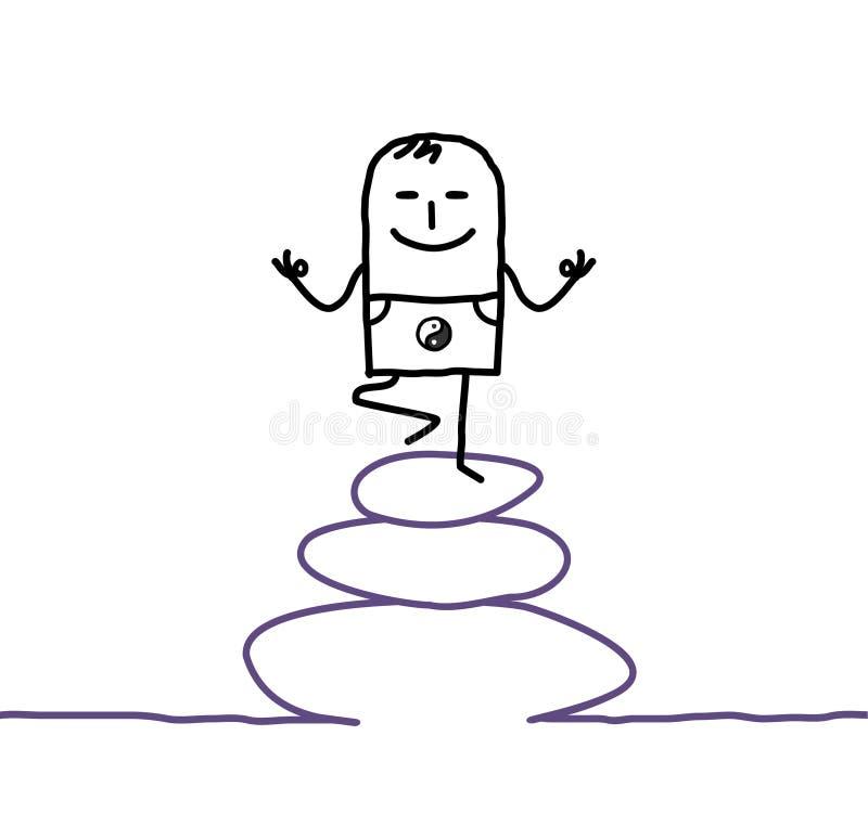 Zen y yoga ilustración del vector