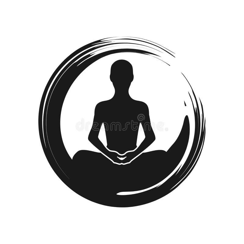Zen Yoga Meditation Abstract Symbol ilustração royalty free