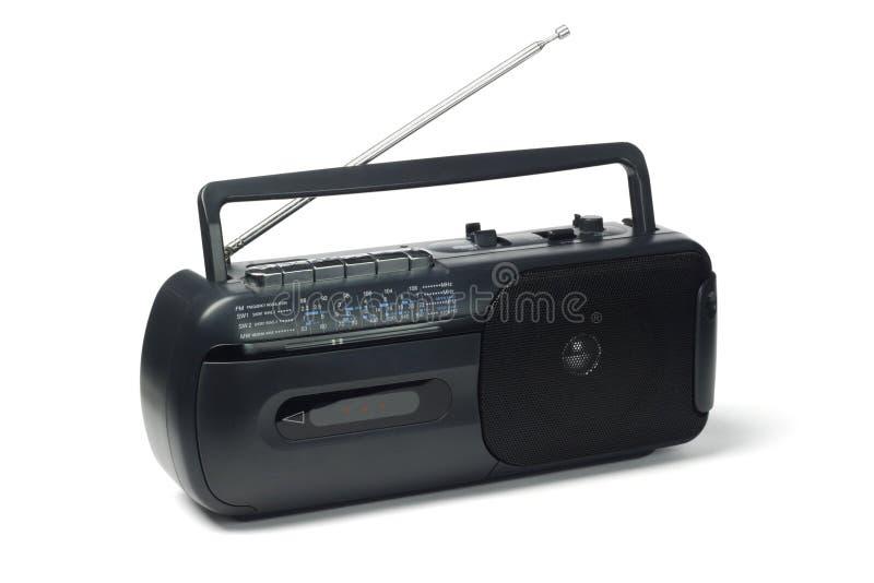 Zend cassettespeler via de radio uit stock fotografie