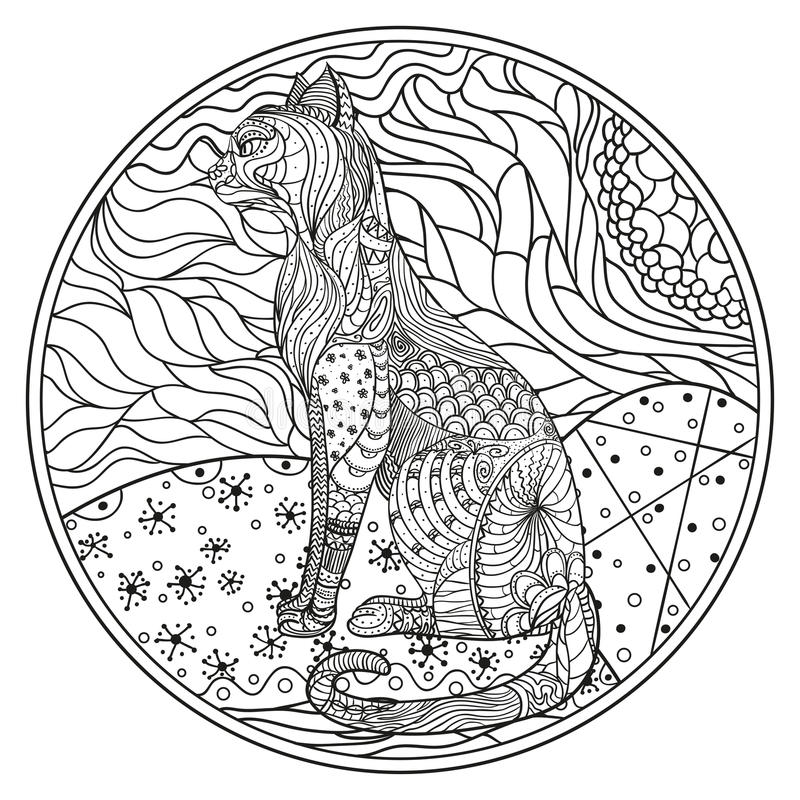 Zendala Τέχνη γραμμών διανυσματική απεικόνιση