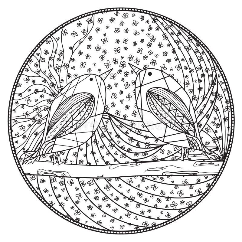Zendala Arte de Zentangle ilustração do vetor