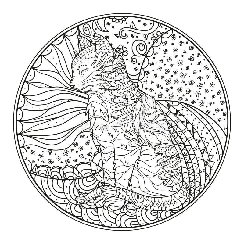 Zendala. Line art. stock images