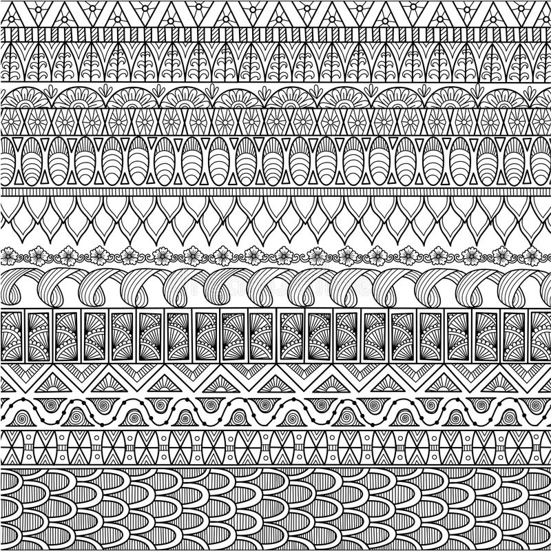 Download Zendoodle Design Of Background For Adult Coloring Book And Wallpaper Stock Vector