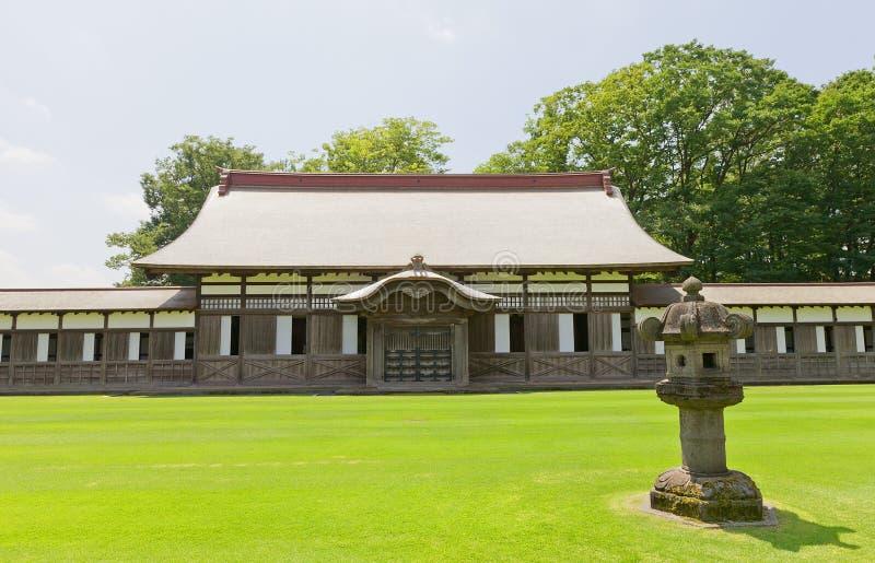 Zendozaal van Zuiryuji-Tempel in Takaoka, Japan stock fotografie