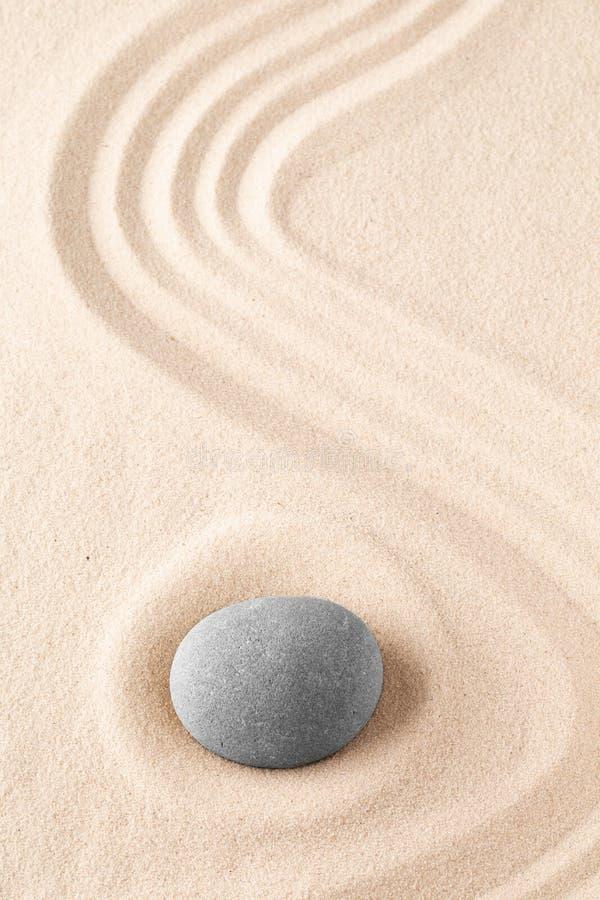Zengarten-Meditationsstein stockbild