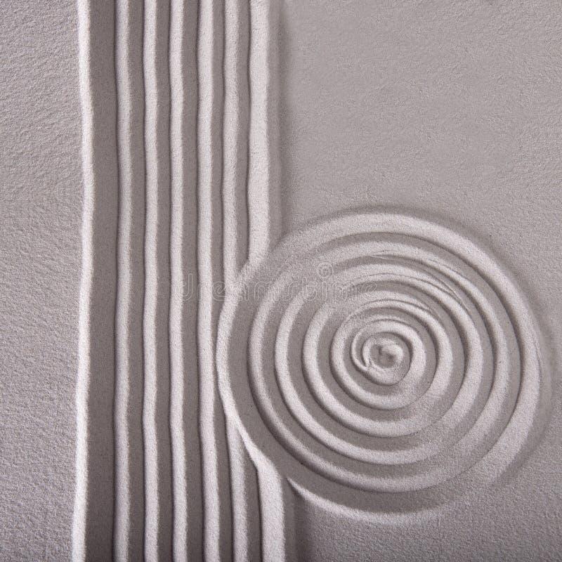 Zengartenzeilen und -kreis plätschern Muster lizenzfreie stockfotos