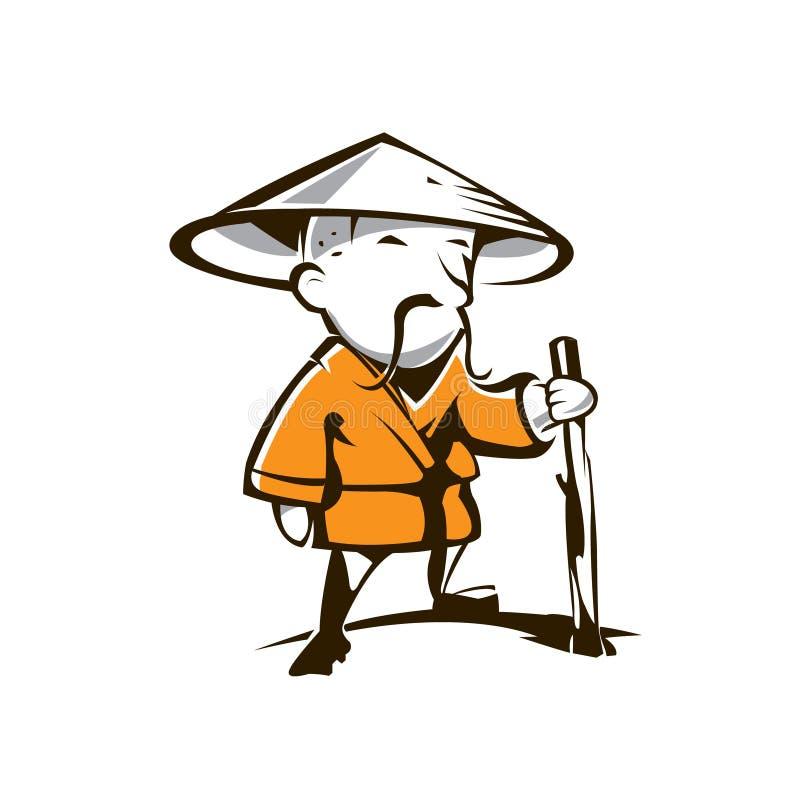 Zenguru Buddhist vektor illustrationer